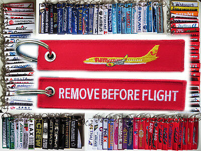 Keyring TUI FLY TUIJET Airlines Remove Before Flight keychain RED HLX Express
