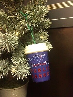 2017 First Starbucks Holiday Christmas Ornament Pike Place Exclusive Ceramic