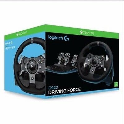 Logitech G920 Driving Force Racing Steering Wheel for for Xbox One & PC New