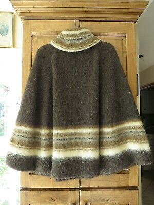Vintage Alis 100% Wool Mountain Sheep Poncho Made in Iceland - Fully Lined 1960s