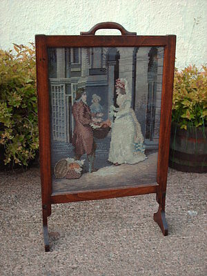 Vintage Oak  Fire Screen