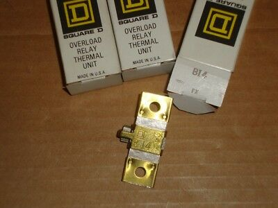 3X Square D Overload Heater B14 Lot of 3 New