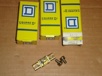 3X Square D Overload Heater A4.32 Lot of 3 New A 4.32