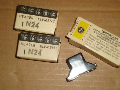 3X Allen Bradley Overload Heater N24 New Relay Thermal Unit Lot of 3 N-24