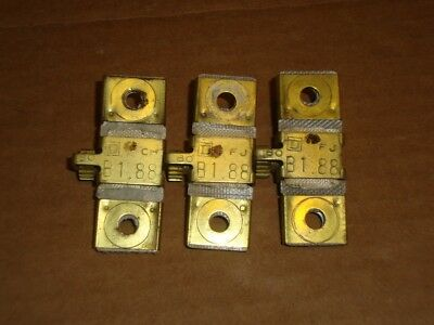 3X Square D Overload Heater B1.88 Lot of 3
