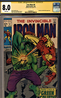 Iron Man #9 Cgc 8.0 Signature Series Signed By Stan Lee-The Hulk Cover/story