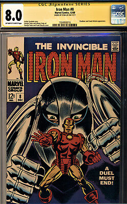 Iron Man #8 Cgc 8.0 Signature Series Signed By Stan Lee-The Gladiator Story