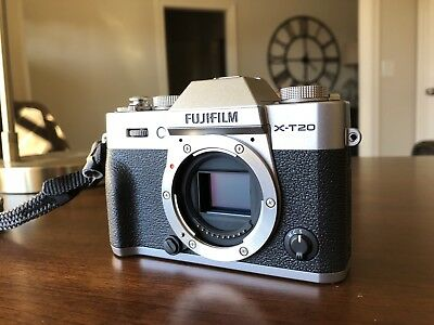 Fuji X-T20 mirrorless digital camera - silver (body only)