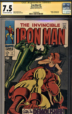 Iron Man #2 Cgc 7.5 Signature Series Signed By Stan Lee-The Demolisher!