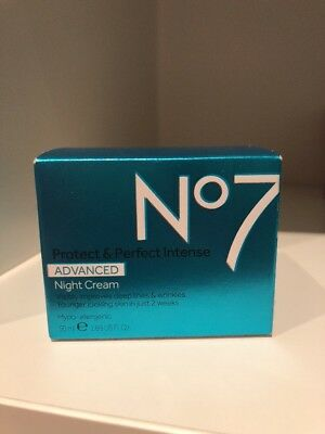 No7 Protect And Perfect Advanced NIGHT Cream 50ml BNIB UK SELLER
