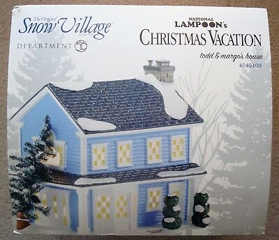 Dept 56 Snow Village Christmas Vacation Todd and Margo's House NEW! Retired!!