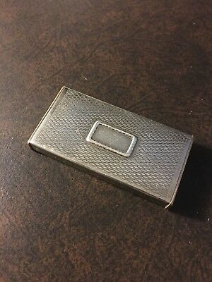 Vintage Forstner Pill Box with Sterling Silver Top