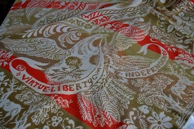 Antique 19th c Patriotic American Centennial Coverlet with Eagles AAFA *