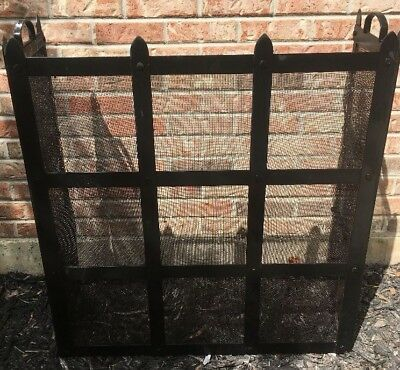 Fireplace Cover Screen Doors Kit Decor Stand Gate Wood Burning Kids Protection