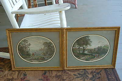 Antique Pair of French Engravings Framed