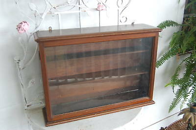 Vtg Lord Bros & Company Wall Hanging or Counter Top Wood Cabinet Store Display
