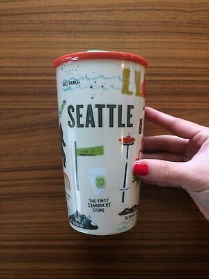 2017 New Starbucks Local Series Tumbler Seattle Exclusive Ceramic Mug 12oz
