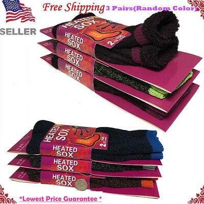 New 3 Pairs Womens Thermal Winter Warm Heated Thick Soft Sox Socks Size 9-11