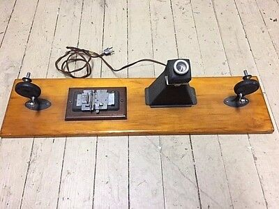 Vintage Wood Mounted Craig / Franklin 8mm & 16mm Film Splicer With Viewer