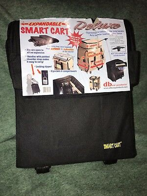 Dbest Products Rolling Multipurpose Collapsible Basket Smart Cart, Black 01-018