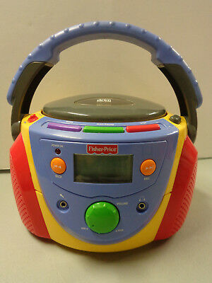 Fisher Price Tuff Stuff Kid Tough Portable Stereo CD Player Multi-Colored Works