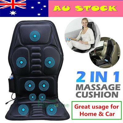 2 IN 1 9 Motor Massaging Back Massage Seat Pad Massager Chair Cushion Car / Home