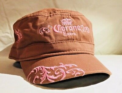 Corona Extra hat cap women's embroidered brown pink (B)