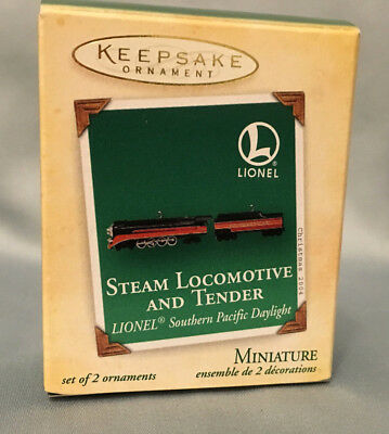 Hallmark Keepsake Ornament Miniature Steam Locomotive & Tender Lionel Daylight