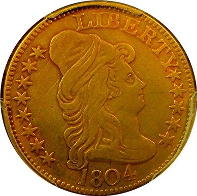1804 $5 Gold Draped Bust (Small 8, R-5) Half Eagle   +++ Certified Pcgs Vf +++