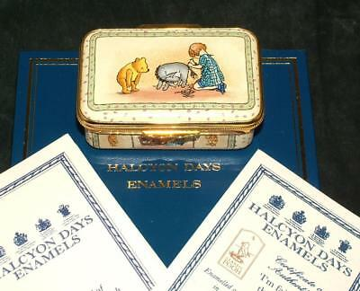 Halcyon Days Enamel Box WINNIE THE POOH I'M FAIRLY SURE THIS ISNT ME Lim Edition