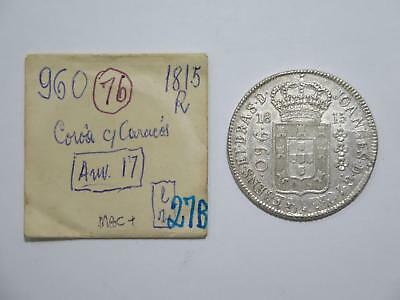 Brazil 1815 R 960 Reis Over 8 Reales Ex:kurt Prober Old World Coin Collection B