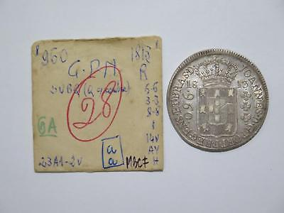 Brazil 1813 R 960 Reis Over 8 Reales Ex:kurt Prober Old World Coin Collection B