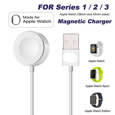 For Apple Watch Series 1/2/3 iWatch 38/42mm Magnetic Charger Charging Pad Cable