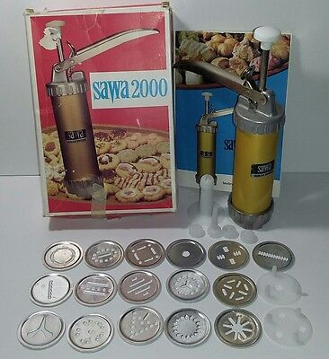 Cookie Press Sawa 2000 Sweden Tips Discs Vintage Vasilka Holiday