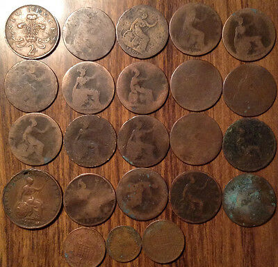 Lot Of 23 Uk Gb Great Britain Various Coins Lot Of 23 Coins