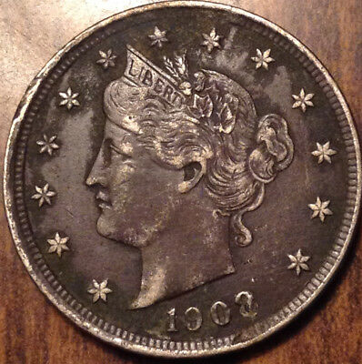 1908 Usa 5 Cents Liberty In Very Nice Condition !