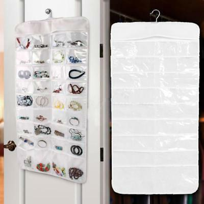 72 Pocket Jewelry Hanging Storage Organizer Earring Pouch Bag Display Holder Hot