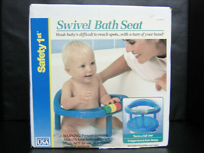 Safety 1St Locking Swivel Suction Cup Baby Bath Tub Seat Chair-Blue-00160A-New