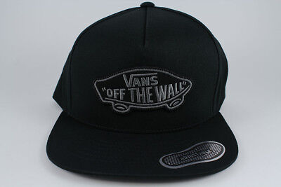 f73e4522efb Vans Classic Patch Snapback Hat Adjustable Cap Black gray Adult Off The Wall  New