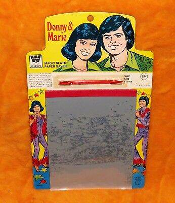 The Donny and & Marie Osmond Show Magic Slate vintage 1977 70s NEW unused