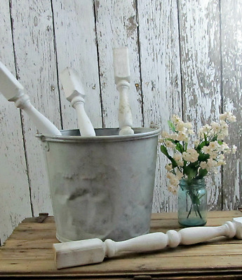 Salvaged White Porch Spindle Farmhouse Project Piece Supply Decor
