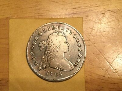 1795 Draped Bust Silver  dollar album tone  high grade. Looks Xf