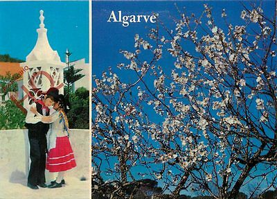 Picture Postcard- Algarve, Children Dancing, And Tree Blossom