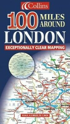 100 Miles Around London (Road Map) by Harper Collins Sheet map, folded Book The