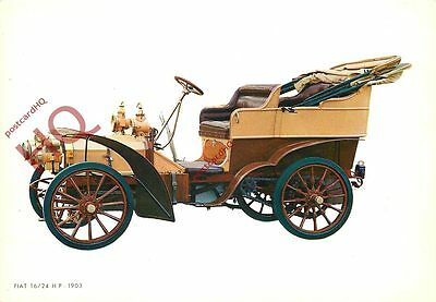 Picture Postcard- VINTAGE CAR, FIAT 16/24 H.P., 1903