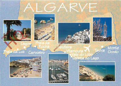 Picture Postcard::Algarve, Map