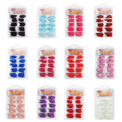 100 PCS False Acrylic Gel Nail Art Half Tips Salon Natural color French Tips Hot