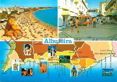 Picture Postcard:;Albufeira, Map