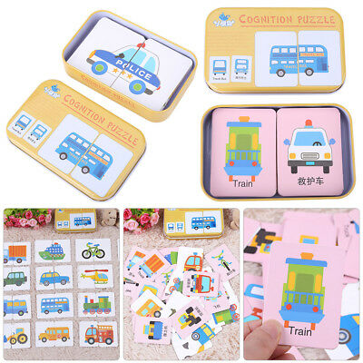 Flash Card Set - Educational Learning Picture Word Baby Cognitive Cards Toy Gift