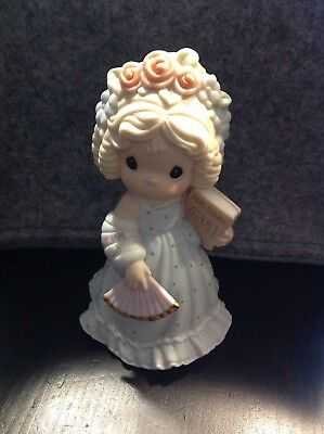 A Precious Moments Porzellan Figur Enesco 2000 sweetest girl in the cast